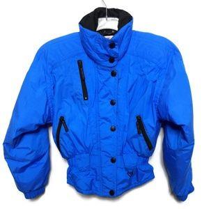 Obermeyer Winter Ski Jacket Coat 6 Blue Retro VTG